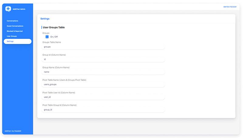 Setup User Groups